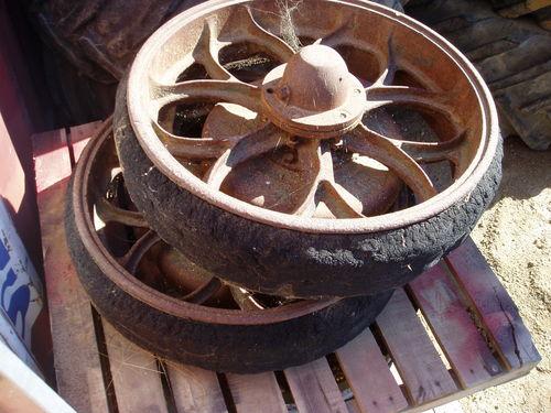 2 Vintage Truck Tyres