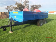 8T Dropside Hyd tipping trailer on oversize wheels