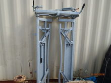 Galv auto cattle rack gate old stock